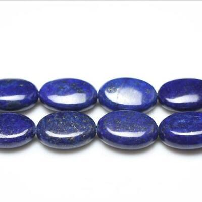 Strand Of 20+ Blue Lapis Lazuli 13 x 18mm Puffy Oval Beads GS0217-2