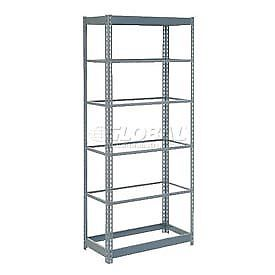"Heavy Duty Shelving 48""W x 18""D x 72""H With 6 Shelves, No Deck"