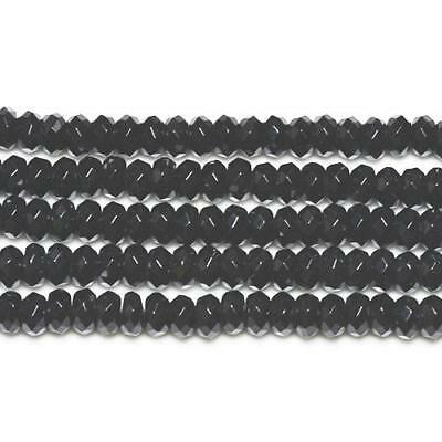Strand Of 70+ Black Onyx 5 x 8mm Faceted Rondelle Beads GS3378-2