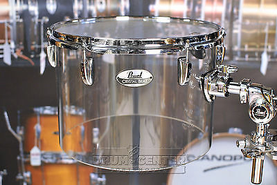 "Pearl Crystal Beat 14""x10"" Single-Headed Tom - Ultra Clear"