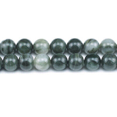 African Jasper Round Beads 8mm Green 45+ Pcs Gemstones Jewellery Making Crafts