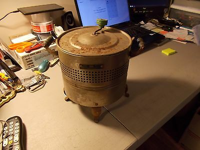 Vintage Dominion Electric Mfg. Co. Popcorn Poper Metal With Wood Handles No Cord