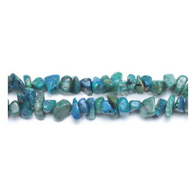 Long Strand Of 240+ Blue/Green Chrysocolla 5-8mm Chip Beads GS6360