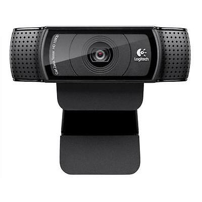 LOGITECH C920 HD Pro Webcam Carl Zeiss optics 15-megapixel snapshots 1080p video