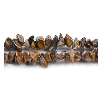 Long Strand Of 240+ Yellow/Brown Tiger Eye 5-8mm Chip Beads GS3154