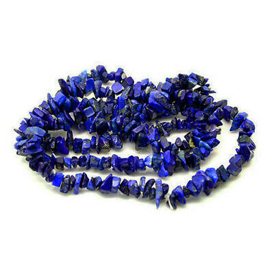 Long Strand Of 240+ Blue Lapis Lazuli 5-8mm Chip Beads GS3196