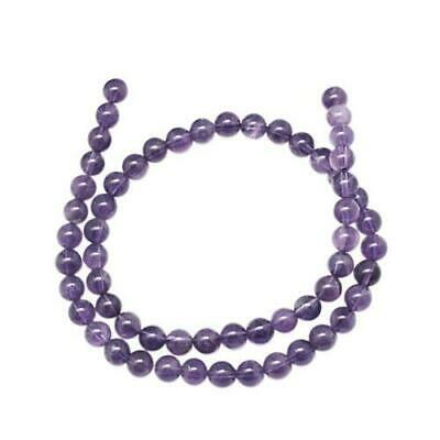 Strand 95+ Purple Amethyst 4mm Plain Round Beads GS1250-1
