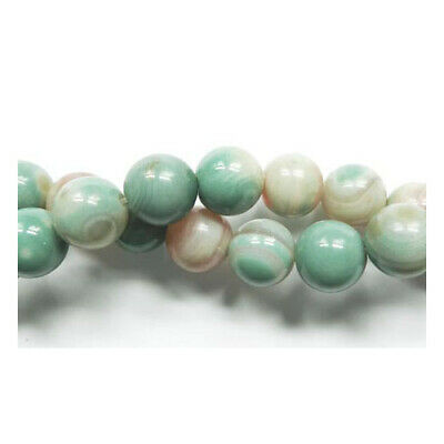 Strand Of 60+ Multicolour Amazonite 6mm Plain Round Beads GS4795-2
