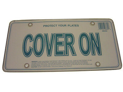 License Plate Frame Flat light Smoke Cover, 2pc fit Canada & USA License plate