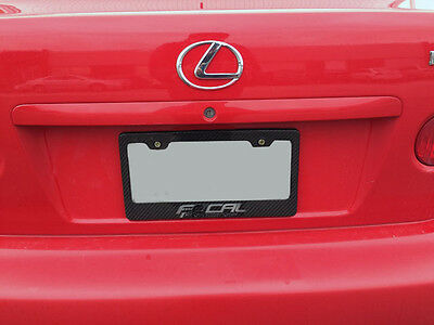 2pcs Real Carbon Fiber License Plate Cover Frame, fit Canada, USA License plate