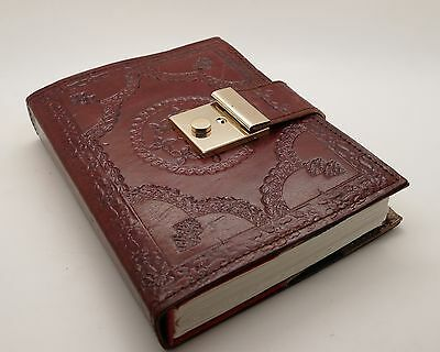 Leather Handmade Book Of Shadows Bound Refillable Journal Wicca Spell Keeper