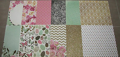 """Kaisercraft 'ALL THAT GLITTERS' 12x12"""" Paper Floral (You Choose) KAISER *DELETED"""