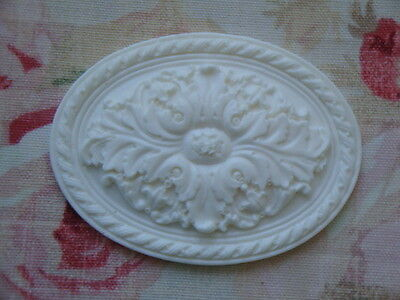 NEW! Shabby & Chic  Large Oval Acanthus Leaf Medallions Applique Architectural