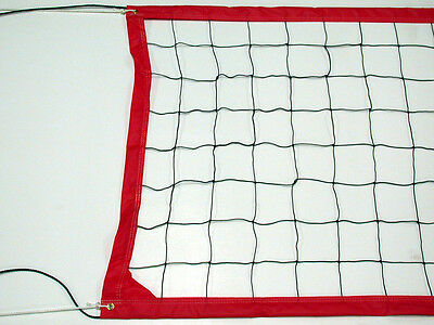 Home Court Swimming Pool/Backyard Volleyball Net in Red 16-foot Long- VRR16R