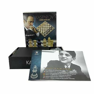 KASPAROV 36 cm Fold-out Wooden CHESS SET - Strategy Game