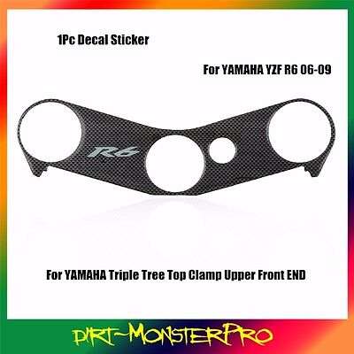 1 PCS Decal Pad Triple Tree Top Clamp Upper Front End Yamaha YZF R6 2006-2009