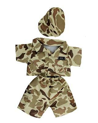 """DESERT ARMY BROWN CAMOUFLAGE OUTFIT FOR 16""""/40cm TEDDY BEARS &  BUILD YOUR  BEAR"""