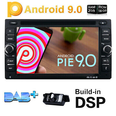"6.2"" Double Din Car DVD Player GPS Navi In Dash Stereo Radio Android 9.0 USB 4G"