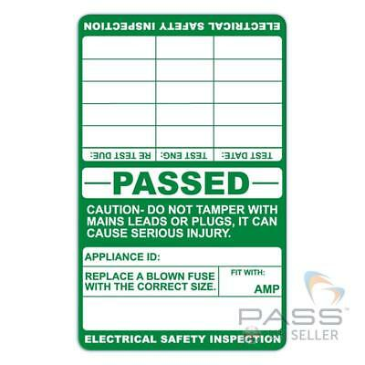 PASSED PAT Testing Labels 150 x Cable Wrap Labels with Multiple Test Dates