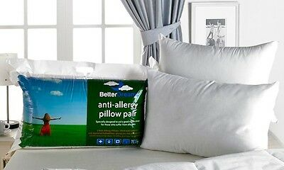 Anti Allergy Betterdreams Pillows Bnwt Free P&p Various Pack Sizes 2/4/6/810