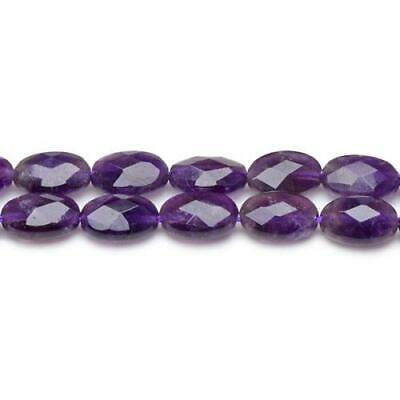Packet Of 6 x Purple Amethyst 8 x 12mm Faceted Oval Beads CB27063-2