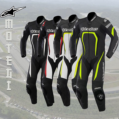 Alpinestars Motegi 1 One Piece Leather Motorcycle Race Track Sport Bike Suit
