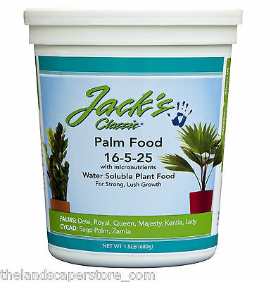 JR Peters Jacks Classic Palm Food 16-5-25 1.5 lbs Water Soluble Plant Fertilizer