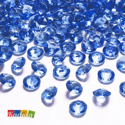 100 Diamanti Decorativi 12mm BLU - Diamantini Centrotavola Party Elegante Navy