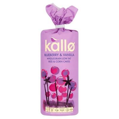 Kallo Blueberry & Vanilla Rice & Corn Cakes 120g