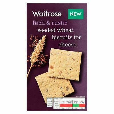 Seeded Wheat Biscuits For Cheese Waitrose 130g