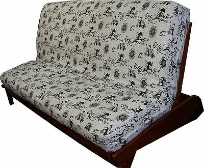 Nile Cotton Print Futon Cover-Handmade in USA- All Sizes
