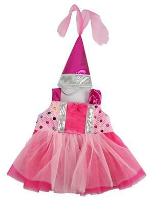 "PINK PRINCESS DRESS & HAT OUTFIT FOR 16""/40cm TEDDY BEARS & BUILD YOUR OWN BEARS"