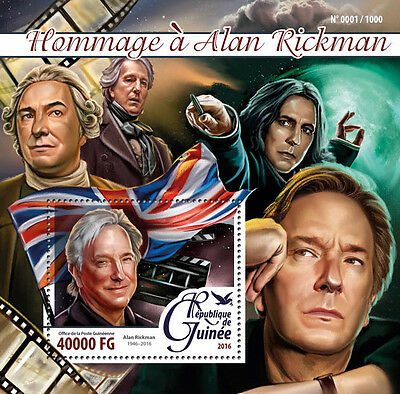 Guinea 2016 MNH Alan Rickman Tribute 1v S/S Severus Snape Harry Potter Stamps