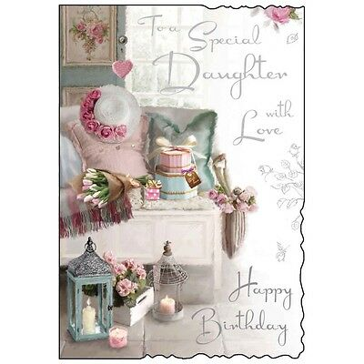 Special Daughter Birthday Card Lovely Verse Beautiful Luxury Made In UK