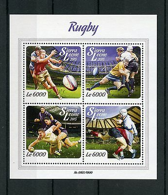 Sierra Leone 2015 MNH Rugby 4v M/S Sports Stamps