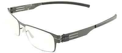 Authentic ic! Berlin Rast Flex Gunmetal Metal Eyeglasses