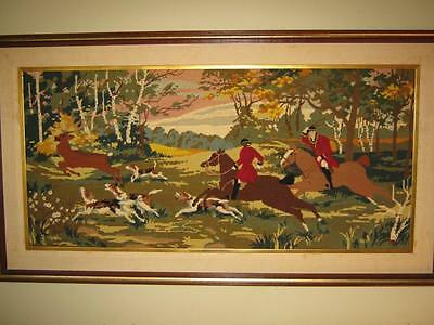 Antique cross-stitches: The Reunion & The Fox Hunt
