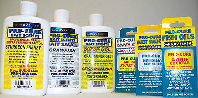 Pro Cure Oil 8 Oz Bottle Uv Enhanced  Lure & Bait Scents Premium Oils