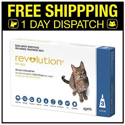 Revolution For Cats Blue 2.6-7.5kg Blue 3 Pack