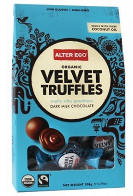 New ALTER ECO Chocolate (Organic) Velvet Truffles - Dark Milk Chocolate 108g