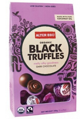 New ALTER ECO Chocolate (Organic) Black Truffles - Dark Chocolate 108g