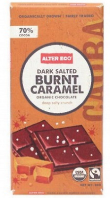 New ALTER ECO Chocolate (Organic) Dark Salted Burnt Caramel 80g