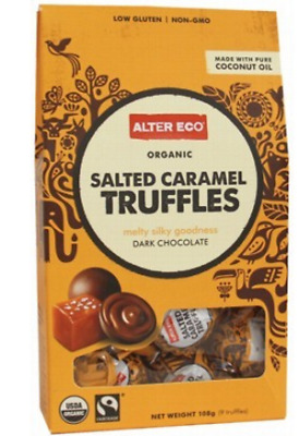 New ALTER ECO Chocolate (Organic) Salted Caramel Truffles - Dark Chocolate 108g
