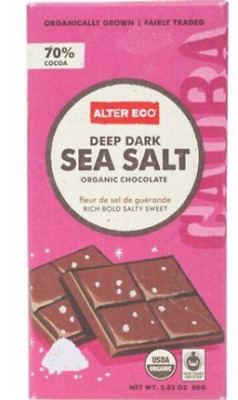 New ALTER ECO Chocolate (Organic) Dark Sea Salt 80g
