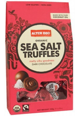 New ALTER ECO Chocolate (Organic) Sea Salt Truffles - Dark Chocolate 108g
