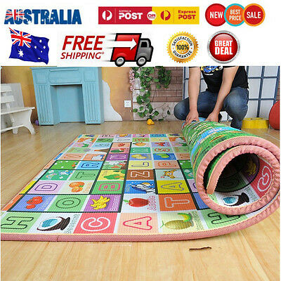 200*180*2CM Baby Floor Crawling Play Mat Child Activity Kid Educational Gym Toy