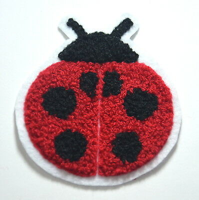 LADYBIRD LADYBUG BUG PLUSH Embroidered Sew On Cloth Patch Badge APPLIQUE