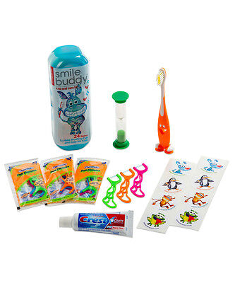 Smile Buddy - Dental Care Travel Kit - Kids Oral Hygiene - Toothbrush & Timer