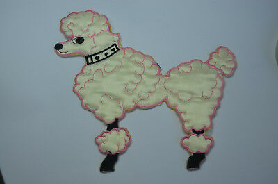 POODLE DOG   Embroidered Sew Iron On Cloth Patch Badge APPLIQUE