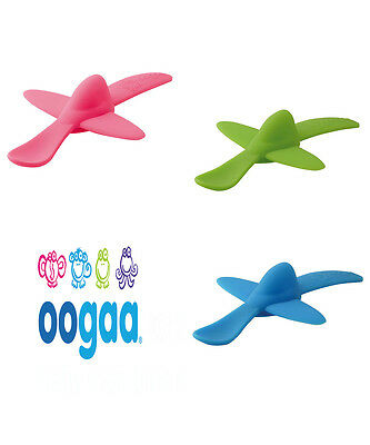 Oogaa Kids Toddler Baby Silicone BPA Free Airplane Spoon